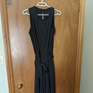 Banana republic black waist tie jumpsuit